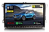 GÜMÜ- PX3PROAV05- Autoradio GPS Navigation Compatible Volkswagen Android 9.0 + Écran Tactile DE 9'+WiFi + Bluetooth + USB + Mémoire Interne 16GB, Golf, Passat, touran, tiguan