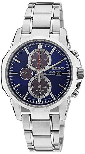 Seiko Herren Chronograph Solar Uhr mit Edelstahl Armband SSC085P1