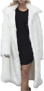 Dawwoti Women's Faux Fur Long Overcoat Shaggy Long Sleeve Fuzzy Chunky Sweater Cape for Winter New Year