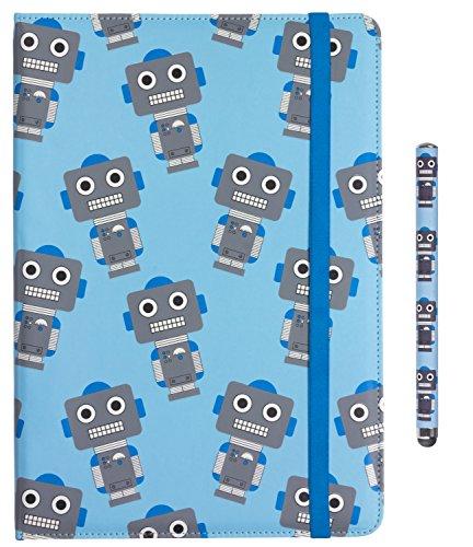 My garabatos by Trendz Juego para niños en con los búhos-Design Incluye Funda Universal con Tapa para 6-8 Pulgada Tablets y e-Readers y lápiz Capacitivo Compatible Roboter 9-10 Pulgadas