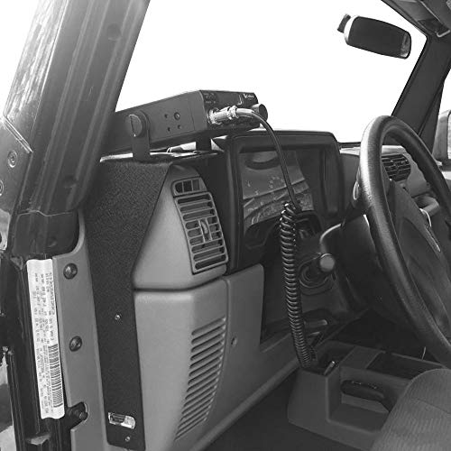 Hooke Road CB Radio Mounting Bracket Interior Dash Accessory Compatible with 1997-2006 Jeep Wrangler TJ