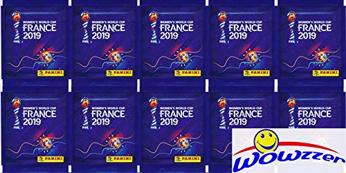 2019 Panini FIFA Women's World Cup Soccer France Collection with 10 Factory Sealed Sticker Packs with 50 Stickers! Look for Stickers of Stars from United States, Japan, Sweden, Brazil & More! WOWZZER!