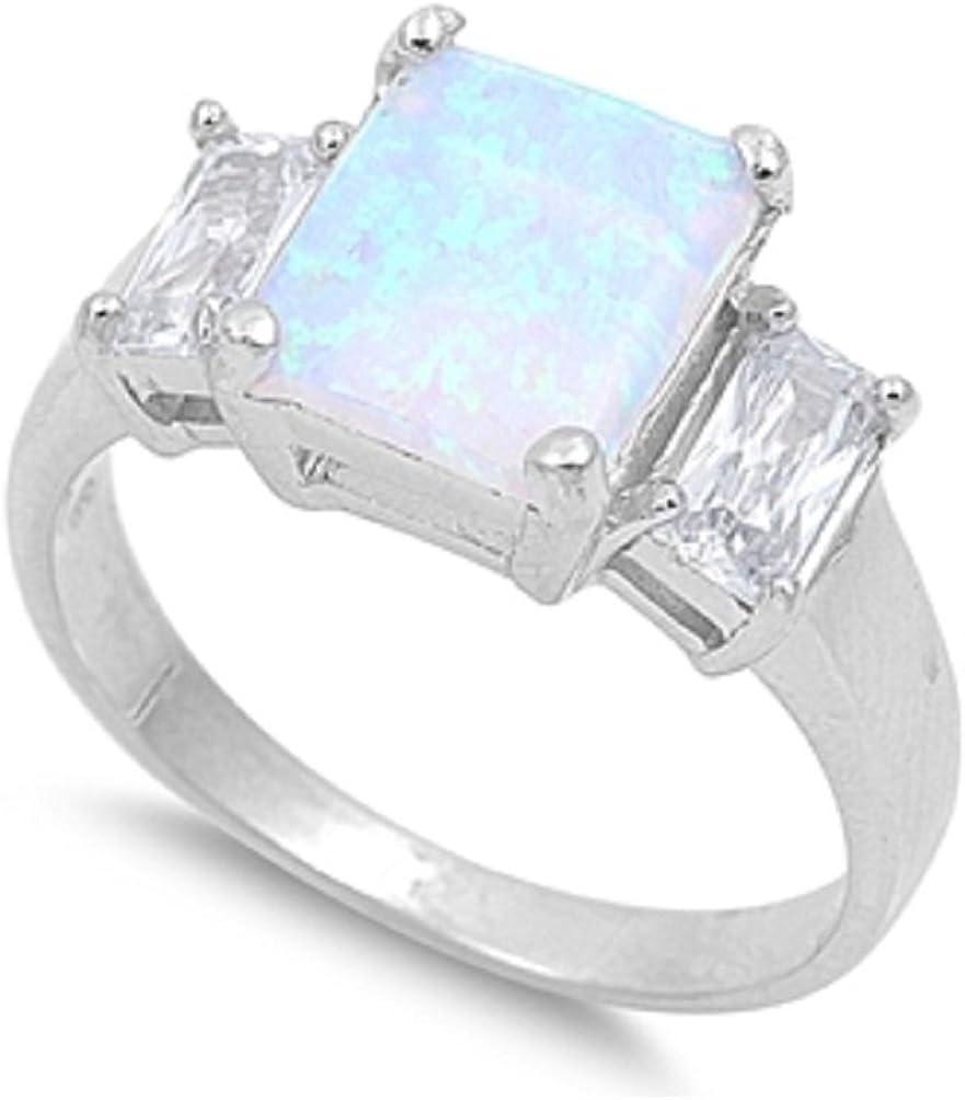 CloseoutWarehouse Princess List price Center Large discharge sale Cubic Opal Simulated Zirconia