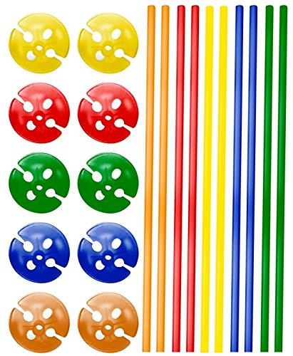Folat NEU Ballonstab bunt, Sortiert, 40 cm, 10 Stück