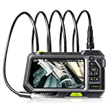 Industrial Endoscope Autofocus Inspection Camera, Anykit Borescope VideoScope with 5 Inch, 1280x720 HD IPS Screen, 3500mAh Battery, Waterproof Snake Camera Probe,LED Lights and Tool Case(3M/9.8ft)