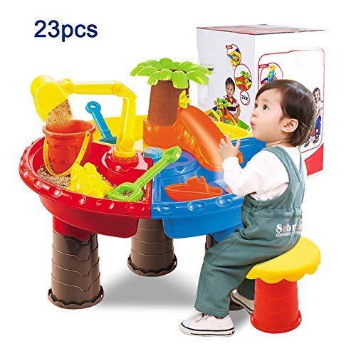 Zand- En Watertafel Tuin Zandbak Speelset Speelgoed Gieter Spade Zandemmer 25St