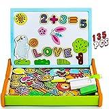 Pizarra Magnetica Infantil 135 Piezas Puzzle Rompecabezas Magnetico Madera Tablero de Dibujo de...