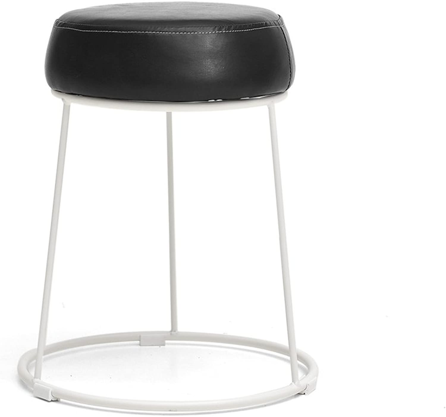 Home Stools, Iron Stools, Leather Art Benches, Creative Table Stools, Minimalist Table Stools, Fashionable Dressing Stools, Makeup Stools, Can Be Placed, Easy to Care, Space Saving (color   E)