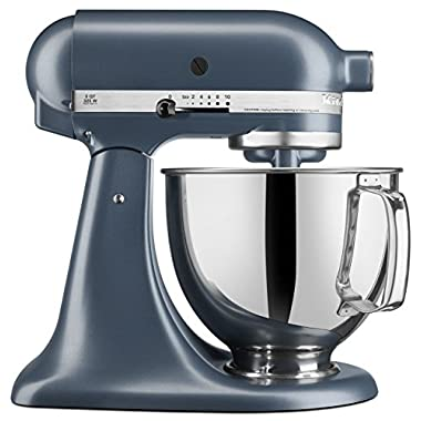 KitchenAid KSM150PSBS Artisan Series 5-Qt. Stand Mixer with Pouring Shield- Blue Steel…