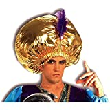 Forum Novelties mens Giant Turban Costume Accessory Party Supplies, Jumbo Gold/Purple, One Size US