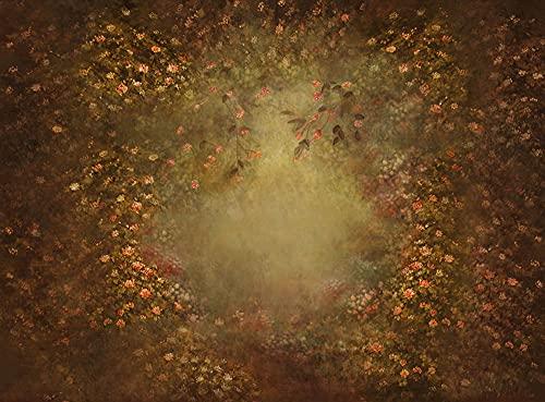 Fondo de fotografía Pintura al óleo Textura de Flores Resumen Floral Retrato de bebé recién Nacido Fondo de Estudio fotográfico A9 10x10ft / 3x3m