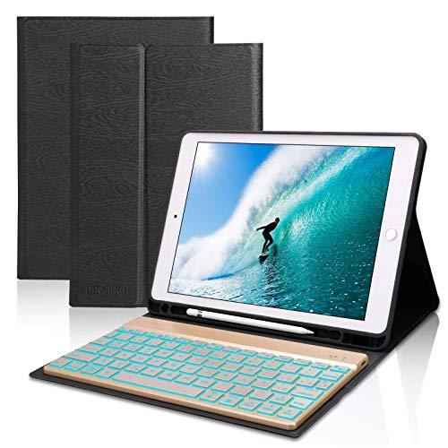 Funda Teclado iPad 10.2 Español,Dingrich Funda Teclado (Incluye Ñ) para iPad 10.2 2019 7 Generación/iPad 8 2020/10.5...