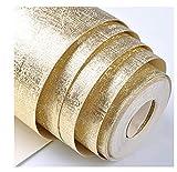 Rollo de papel pintado de oro de lujo, para decoración del hogar, lavable, reflectante, para pared, papel de aluminio dorado brillante, 0,53 m x 10 m