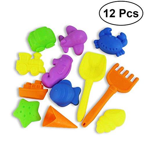 Hecho de plástico de alta calidad, los juguetes son seguros, no tóxicos y duraderos. Estos playsets de playa son perfectos para divertirse en la playa. De tamaño pequeño y peso ligero, sus hijos pueden agarrar y sujetar fácilmente estos juguetes. Reg...