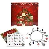 naler 24 accessori di natalizio calendario dell'avvento, gioielli fai da te ciondolo gioielli regalo per le ragazze signore casa natale costume festa