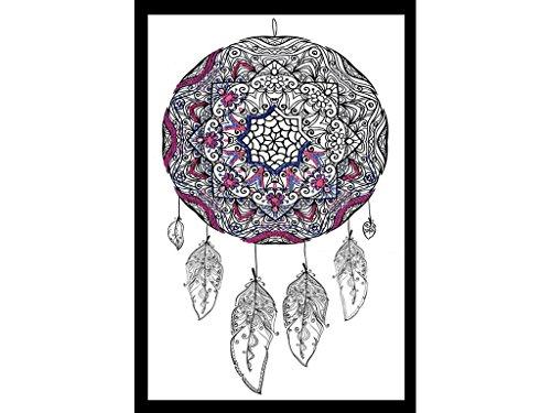 Design Works Crafts Zenbroidery Fabric 10' x 16' Dreamcatcher Free Form Stitching