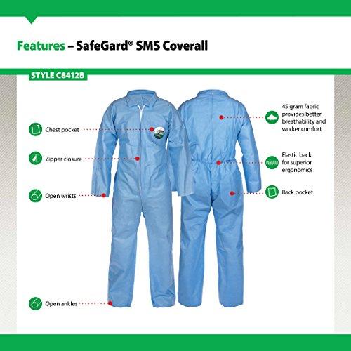 Lakeland SafeGard SMS Polypropylene Coverall Disposable Open Cuff Size Medium