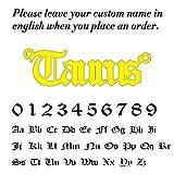 WDam Gargantilla de Acero Inoxidable con Nombre, Collar para Mujer, Placa de identificación Personalizada, Regalo de cumpleaños para Novia, Plateado, 60 cm