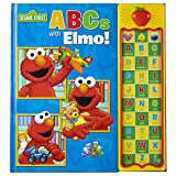 Sesame Street - ABCs with Elmo! 30 Button Sound Book – Great for Learning First Words and the Alphabet - PI Kids