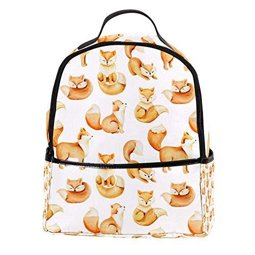 TIZORAX Leuke Vossen Patroon Laptop Rugzak Casual Schouder Daypack voor Student School Tas Handtas - Lichtgewicht