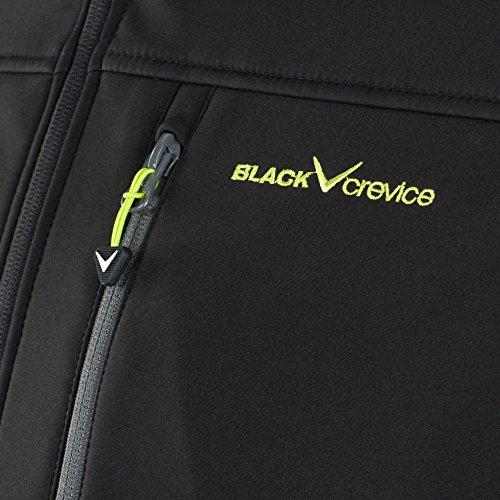 Black Crevice Giacca Softshell da uomo, BCR362620 (Nero/Verde, 52)