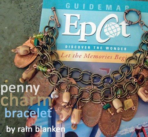 Walt Disney World Pressed Penny Souvenir Bracelet Tutorial: Make Inexpensive WDW Jewelry with DIY Fashion Expert, Rain Blanken
