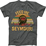 Feed Me Seymour Vintage Retro T-Shirt Audrey II Little Shop of Horrors Dark Heather