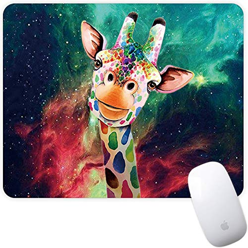 Marphe Mouse Pad Mousepad Non-Slip Rubber Gaming Mouse Pad Rectangle Mouse Pads for Computers Laptop (Nebula Giraffe)