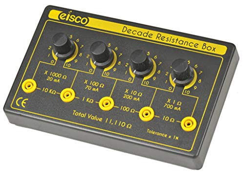 Decade Resistance Box - Ideal Substitution for Standard Resistors - Ranges Over Four Decades - 0 to 11,110 Ohms - Eisco Labs