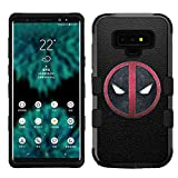 for Galaxy Note 9, Hard+Rubber Dual Layer Hybrid Shockproof Rugged Impact Cover Case - Deadpool #ZL