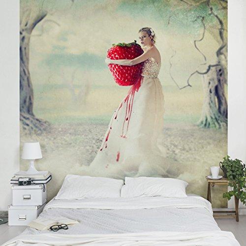 Apalis Vliestapete Strawberryprincess Fototapete Quadrat | Vlies Tapete Wandtapete Wandbild Foto 3D Fototapete für Schlafzimmer Wohnzimmer Küche | Größe: 288x288 cm, mehrfarbig, 95479