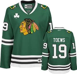 Reebok Jonathan Toews Women's Jersey St. Patrick's Day Green #19 Chicago Blackhawks Women's Premier Jersey