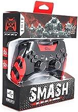 Controle Dualshock Sem Fio PC PS1 PS2 PS3 Emborrachado Vermelho