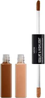 NYX Professional Makeup Sculpt & Highlight Face Duo, Cinnamon/Peach, 0.34 Ounce