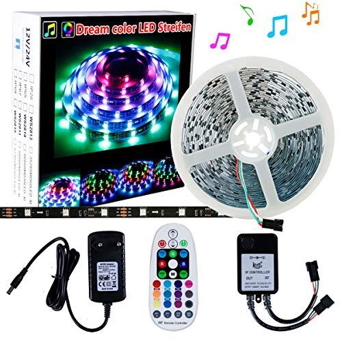 LED Strip DreamColor SELIAN 10m 300led LED Streifen Lichter + RF Musik 28 Tasten + 12V Netzteil LED Band Streifen Beleuchtung für Schlafzimmer und Feiertagsparty