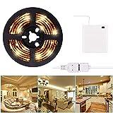Tira de luz LED USB o batería USB Kit de tira de luz LED 3m / 9.8FT Impermeable Cinta de luz LED súper brillante Luz blanca cálida