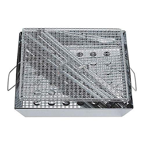Charcoal Grill for Camping Cooking with Carry Bag Small BBQ Pit Stainless Steel Mini Folding Grilling Stove for Travel, Picnic, RV, a or Job Site