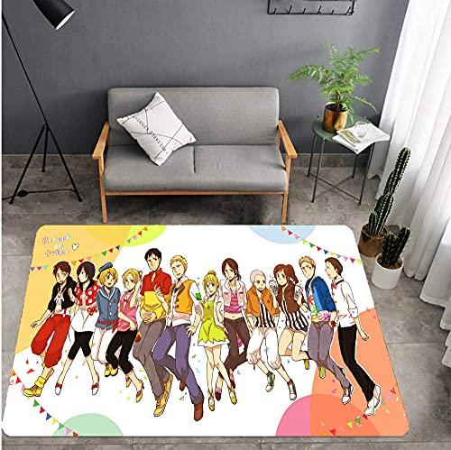 Alfombra Sala de Estar Dormitorio Sala de niños Ataque de Dibujos Animados Titan rectángulo, tapete de Puerta Desmontable 50 * 80 cm-A_40X60CM