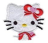 N / A Hello Kitty - Parche bordado para coser o planchar para mujer, hombres, niños y niñas (tamaño: 2.362.3 pulgadas)
