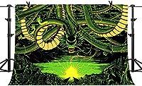 HDドラゴンのテーマの背景に囲まれた山の動物のボールの装飾写真の背景誕生日パーティービニール7X5ftバナーBJLSPH30