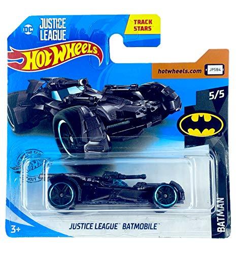Hot Wheels Justice League Batmobil (Metallic Black) 5/5 Batman 2019 - 66/250 (kurze Karte) FYF63