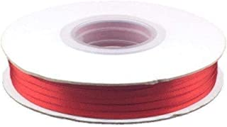 1/8 Inch Double Faced Satin Ribbon - Red - 100 Yards