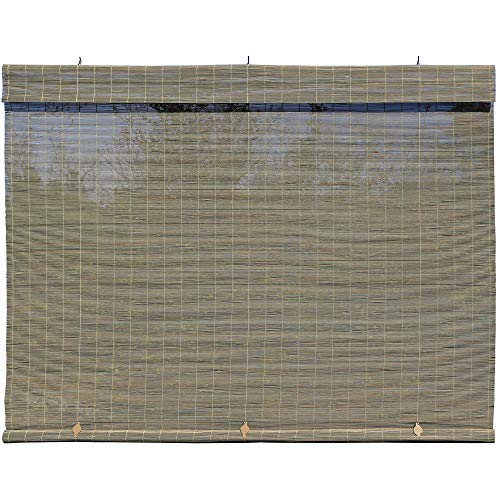Radiance - Imperial Matchstick Cord Free Roll-Up Shade, Driftwood 96 Inches x 72 Inches