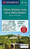 KOMPASS Wanderkarte Erfurt, Weimar, Jena, Gera, Halle (Saale): 2 Wanderkarten 1:50000 im Set inklusive Karte zur offline Verwendung in der KOMPASS-App. Fahrradfahren. (KOMPASS-Wanderkarten, Band 457)