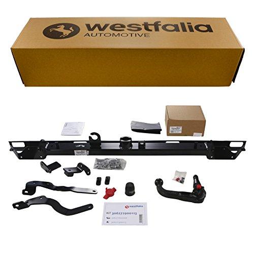 Westfalia Abnehmbare Anhängerkupplung - AHK für Fiat Ducato, Peugeot Boxer, Citroën Jumper (alle Kasten/Kombi ab BJ 02/2011) - Im Set mit 13-poligem fahrzeugspezifischem Elektrosatz