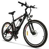 ANCHEER Bicicletta Elettrica 26 pollici, Bici Elettriche Batteria 36V 8AH / 10Ah 21 Velocità 34N Motore 250W Coppia Freno a Doppio Disco (Classico)