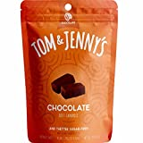 Tom & Jenny's Sugar Free Soft Caramel Candy with Chocolate and Sea Salt - Low Net Carb Keto Chocolate Candy - with Xylitol and Maltitol - (Chocolate Caramel, 1-pack)