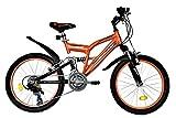T&Y Trade 20 Zoll MÄDCHEN MTB Mountainbike JUGENDFAHRRAD Kinder Fahrrad KINDERFAHRRAD Bike Rad Kinderrad Fully VOLLGEFEDERT 15 Gang 2700 Orange