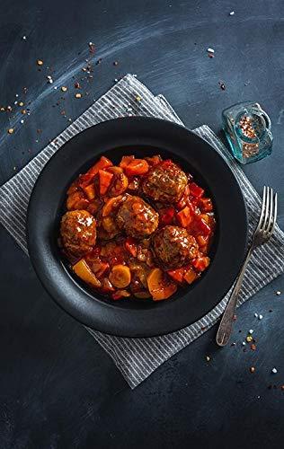 FITTASTE Beef Chicken Balls mit Ratatouille I hochwertiges und vollwertiges Fertiggericht für Fitness- und Figurbewusste I Gekühlte Lieferung zu deiner Wunschadresse I Hergestellt in Deutschland