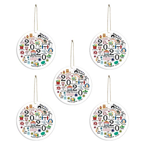 Christmas Decorations Sale - Remembering 2020 Ornament Year Of Quarantine Ornament 2020 Christmas Ornament,Thanksgiving Xmas Ornament Decoration, Birthday Present for Christmas Decorations (5PC)